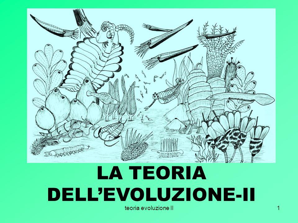 LA TEORIA DELL'EVOLUZIONE-II