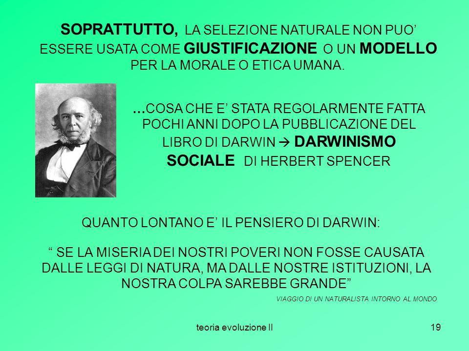QUANTO LONTANO E' IL PENSIERO DI DARWIN: