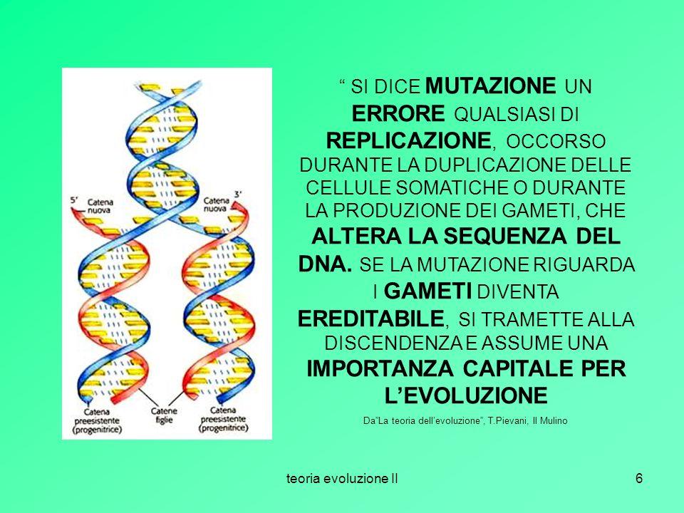 Da La teoria dell'evoluzione , T.Pievani, Il Mulino