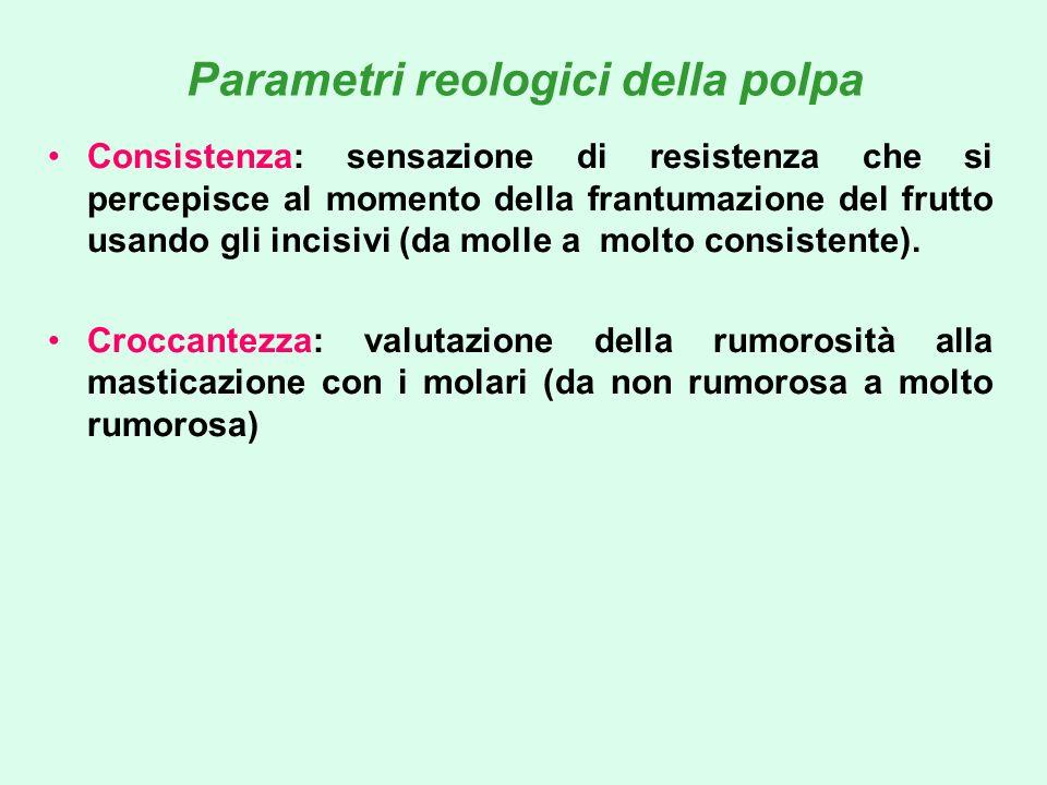 Parametri reologici della polpa