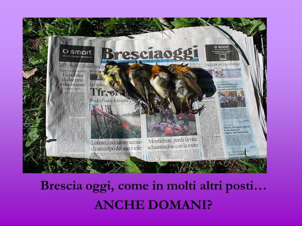 Brescia oggi, come in molti altri posti… ANCHE DOMANI