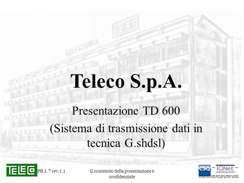 Teleco S.p.A. Presentazione TD 600