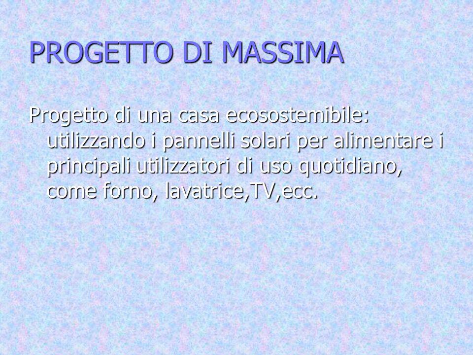PROGETTO DI MASSIMA