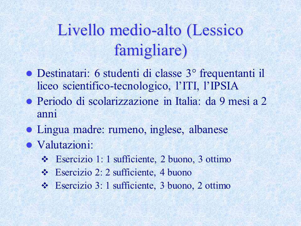 Livello medio-alto (Lessico famigliare)