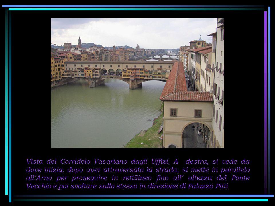 Vista del Corridoio Vasariano dagli Uffizi