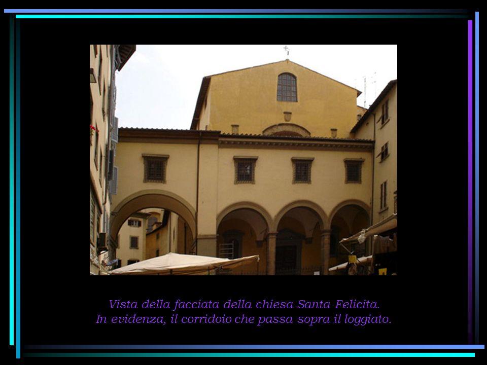 Vista della facciata della chiesa Santa Felicita.