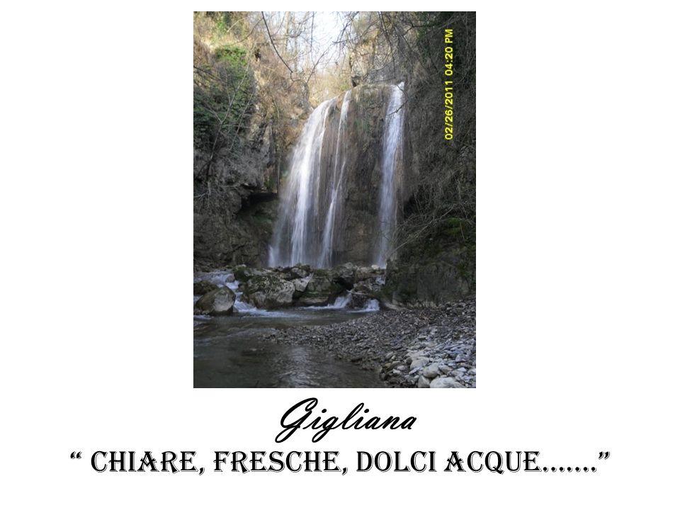 Gigliana Chiare, fresche, dolci ACQUE…….