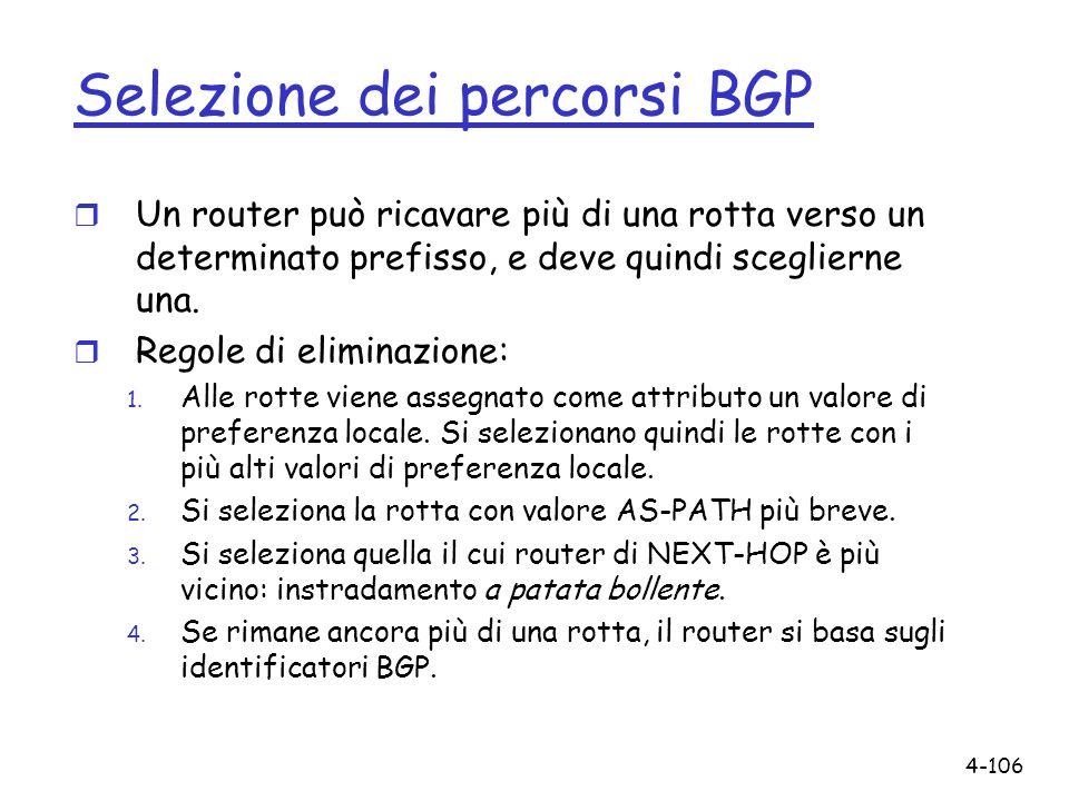Selezione dei percorsi BGP