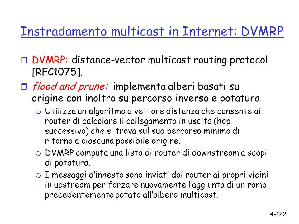 Instradamento multicast in Internet: DVMRP
