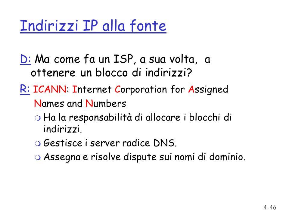 Indirizzi IP alla fonte