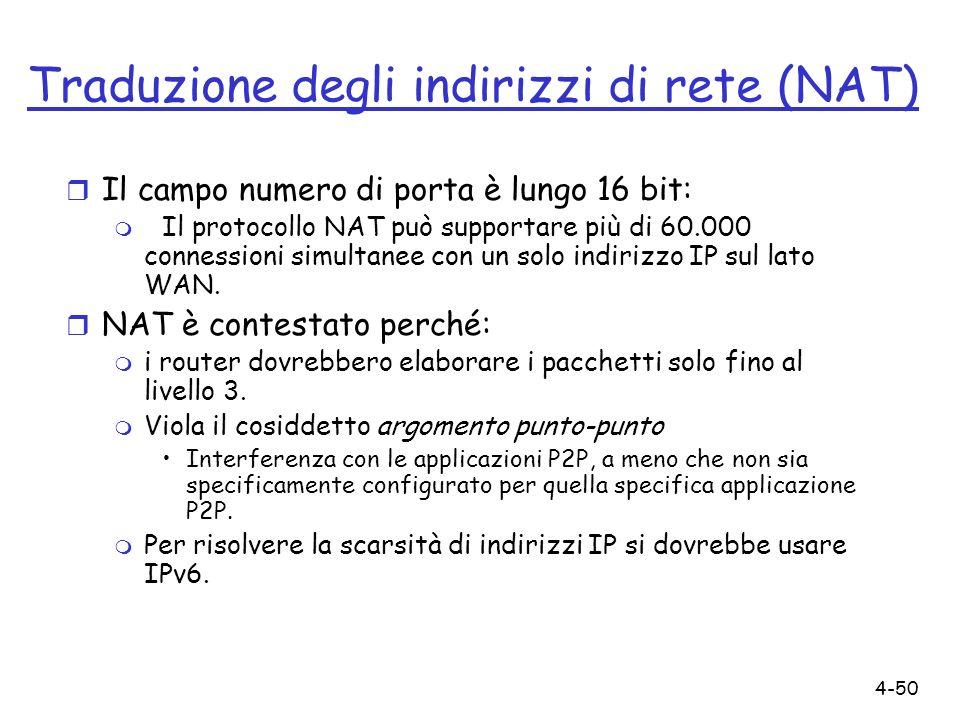 Traduzione degli indirizzi di rete (NAT)
