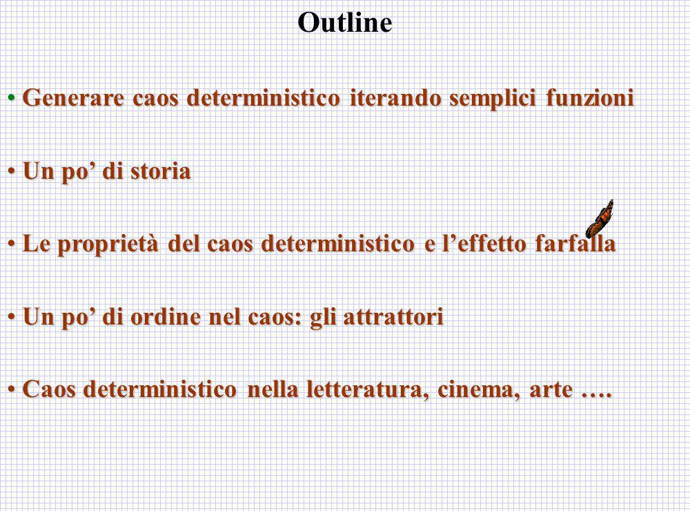 Outline Generare caos deterministico iterando semplici funzioni
