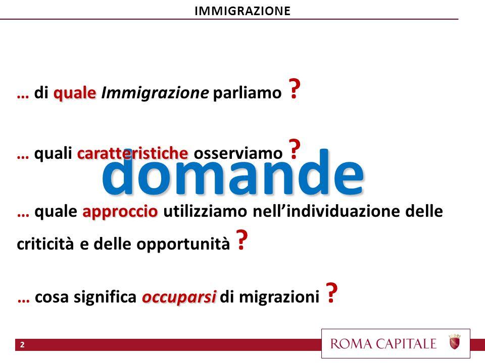 domande … di quale Immigrazione parliamo