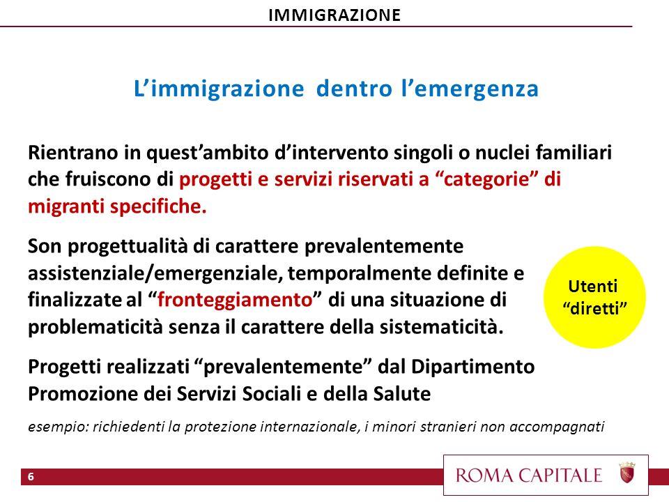 L'immigrazione dentro l'emergenza