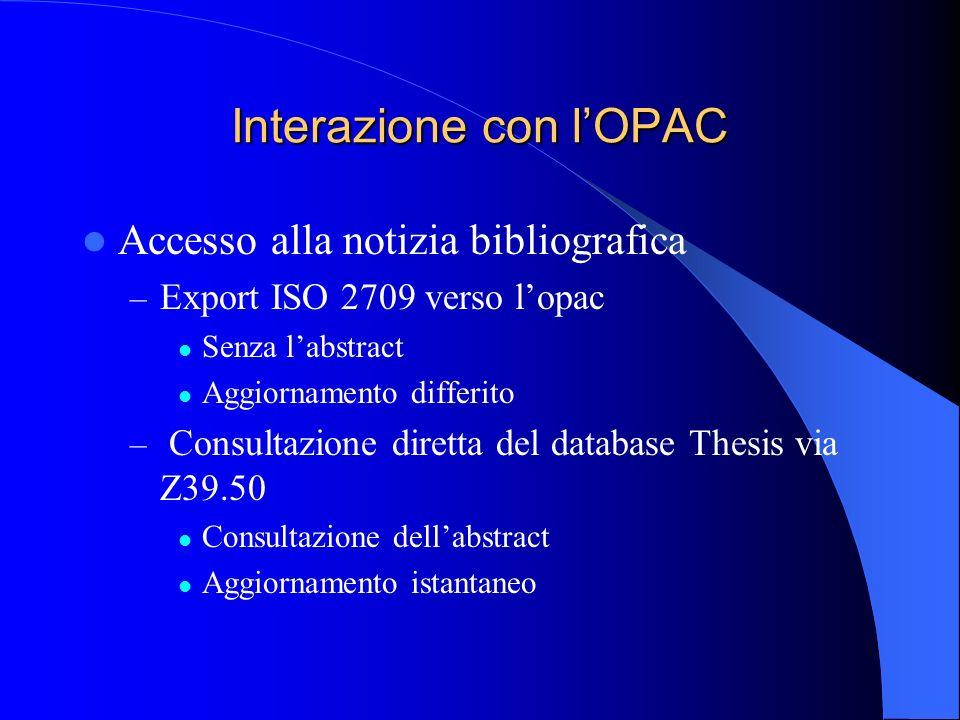 Interazione con l'OPAC