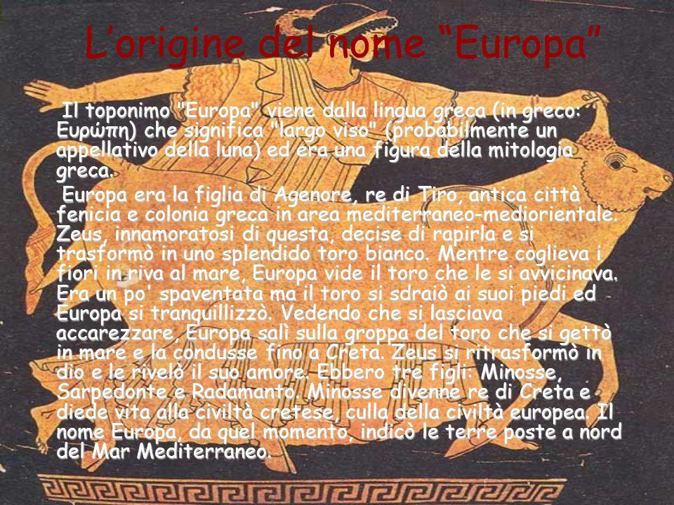 L'origine del nome Europa