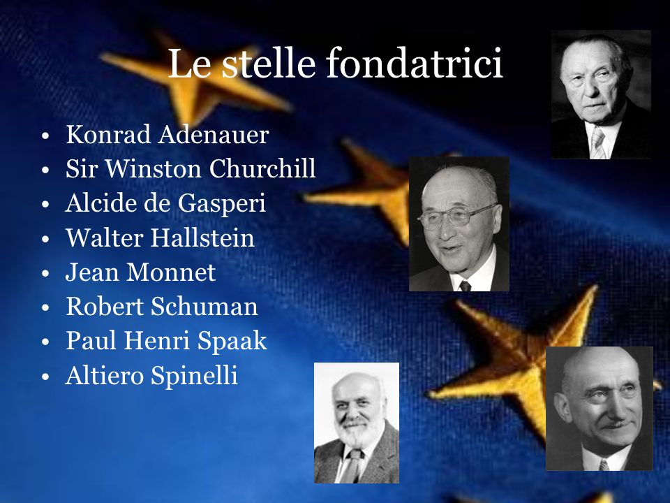 Le stelle fondatrici Konrad Adenauer Sir Winston Churchill