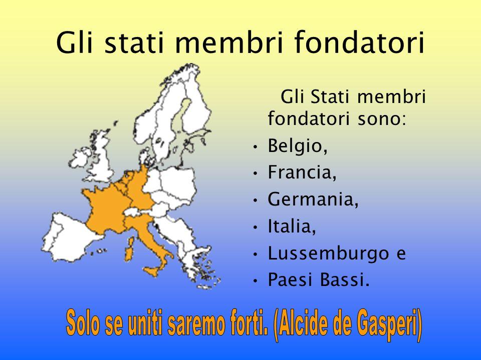 Gli stati membri fondatori