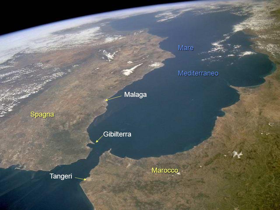 Mare Mediterraneo Malaga Spagna Gibilterra Marocco Tangeri