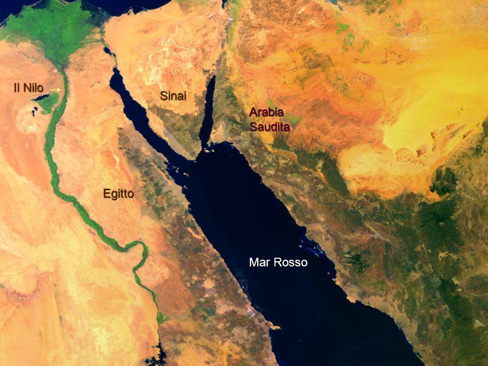 Il Nilo Sinai Arabia Saudita Egitto Mar Rosso