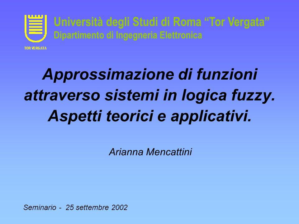 Università degli Studi di Roma Tor Vergata Dipartimento di Ingegneria Elettronica