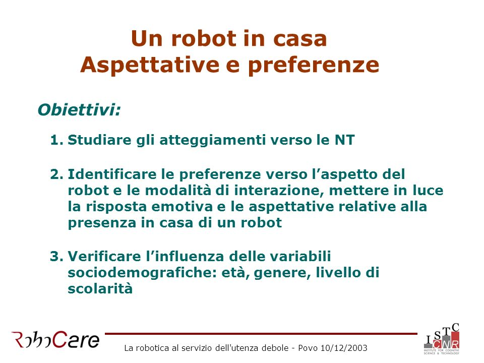 Aspettative e preferenze