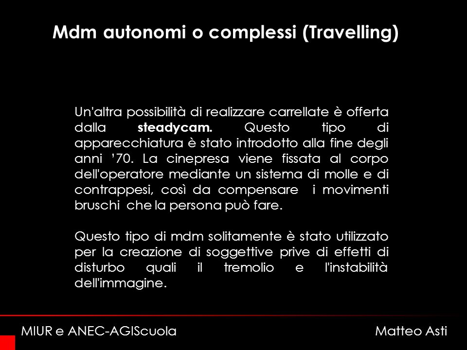 Mdm autonomi o complessi (Travelling)