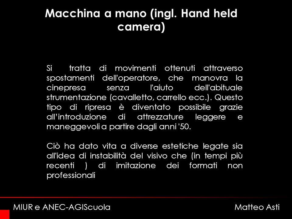 Macchina a mano (ingl. Hand held camera)