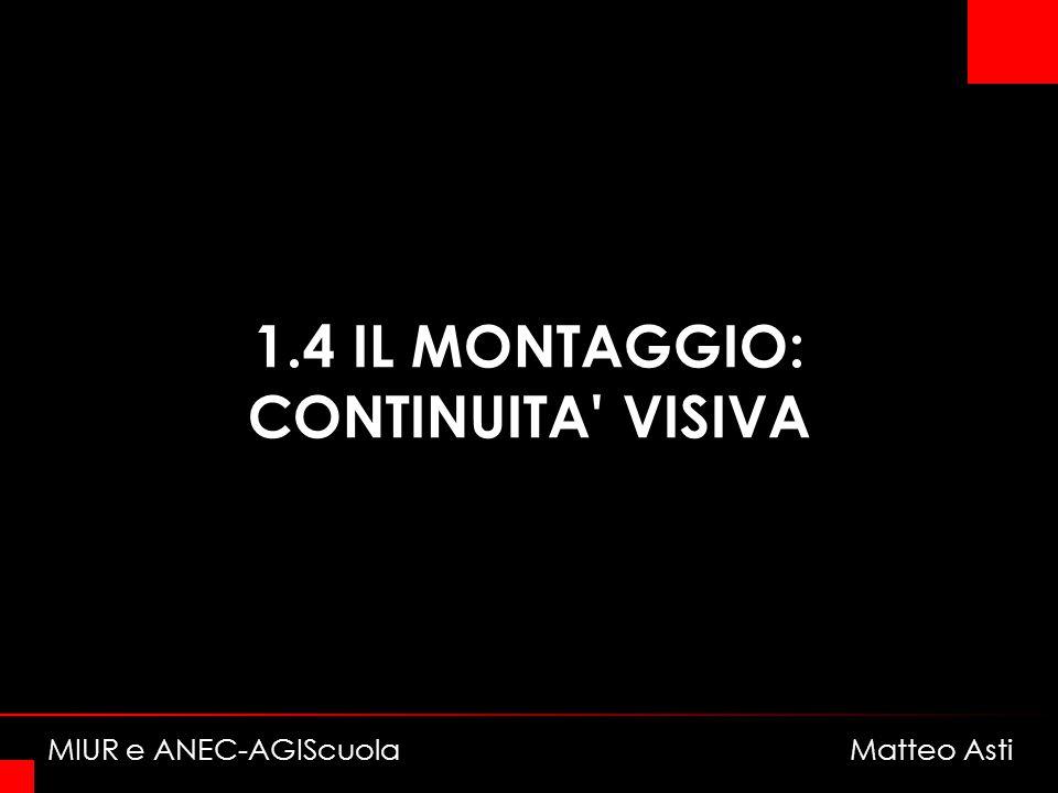 1.4 IL MONTAGGIO: CONTINUITA VISIVA