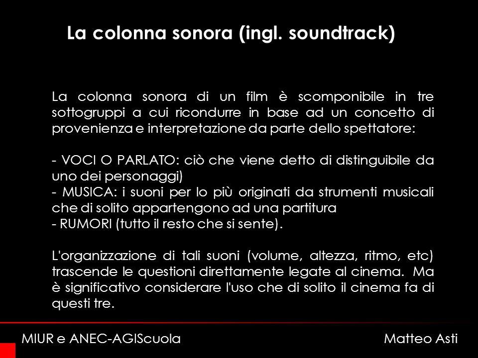 La colonna sonora (ingl. soundtrack)