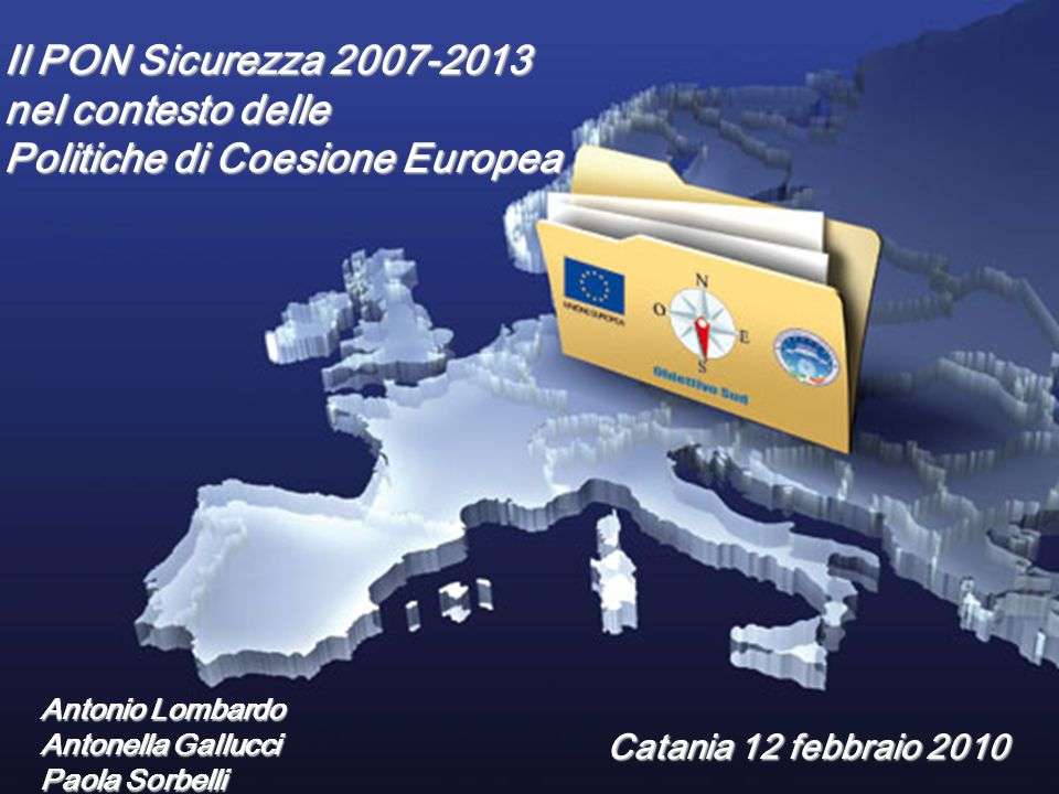 Politiche di Coesione Europea