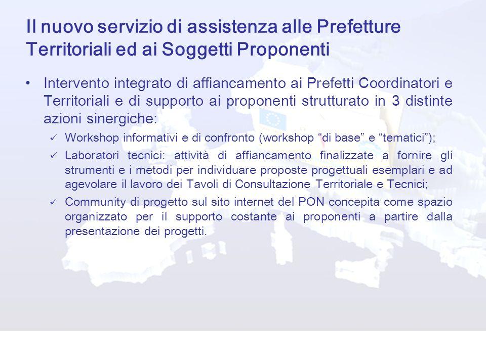 Il nuovo servizio di assistenza alle Prefetture Territoriali ed ai Soggetti Proponenti