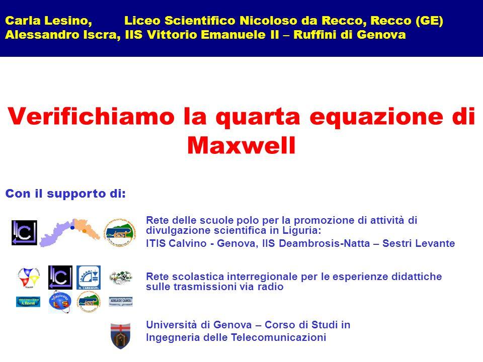 Verifichiamo la quarta equazione di Maxwell