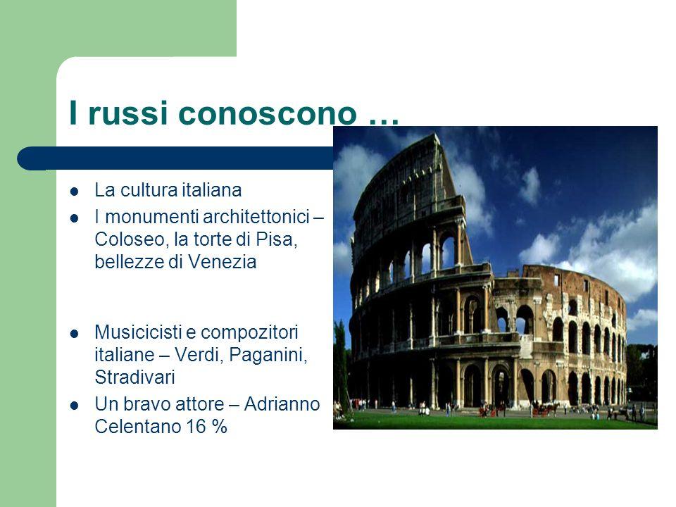 I russi conoscono … La cultura italiana