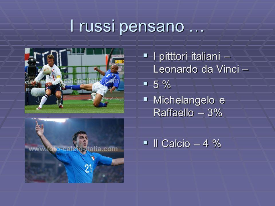 I russi pensano … I pitttori italiani – Leonardo da Vinci – 5 %