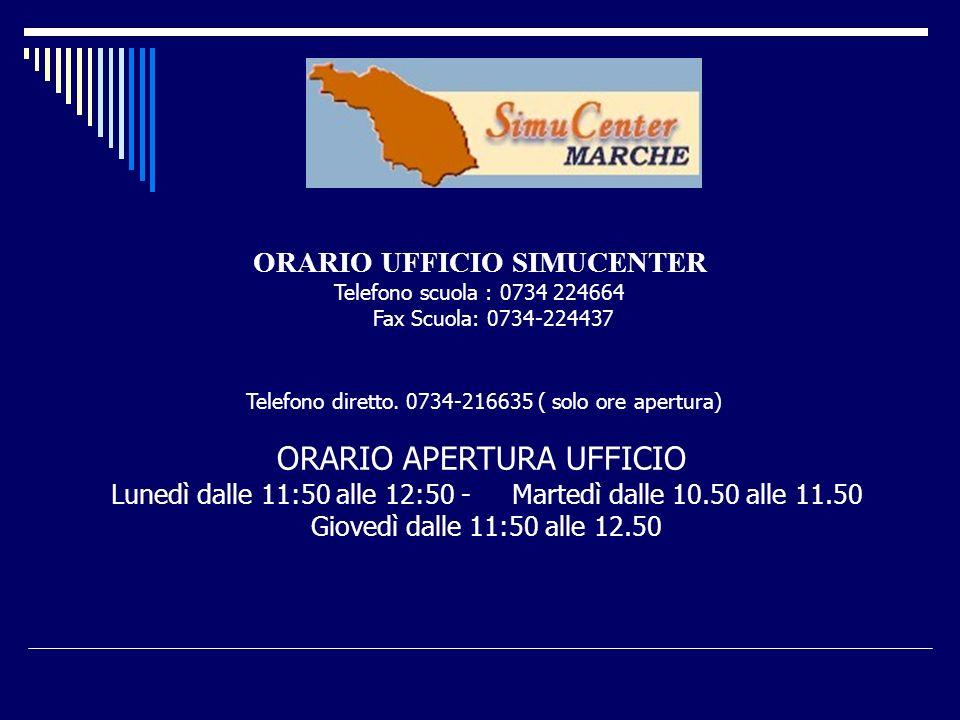 ORARIO UFFICIO SIMUCENTER