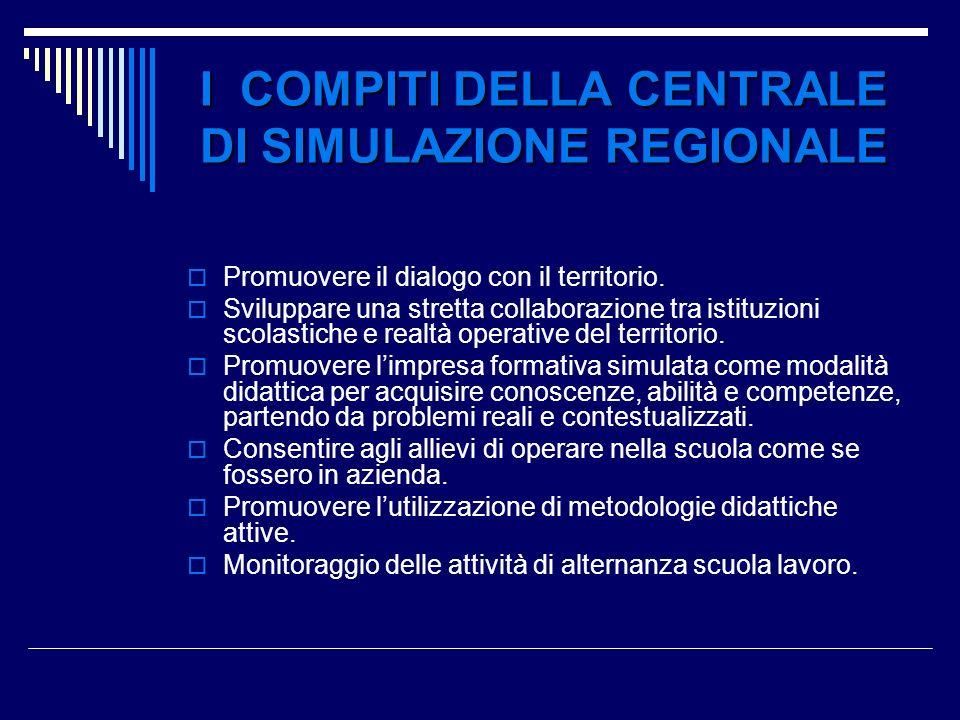 I COMPITI DELLA CENTRALE DI SIMULAZIONE REGIONALE
