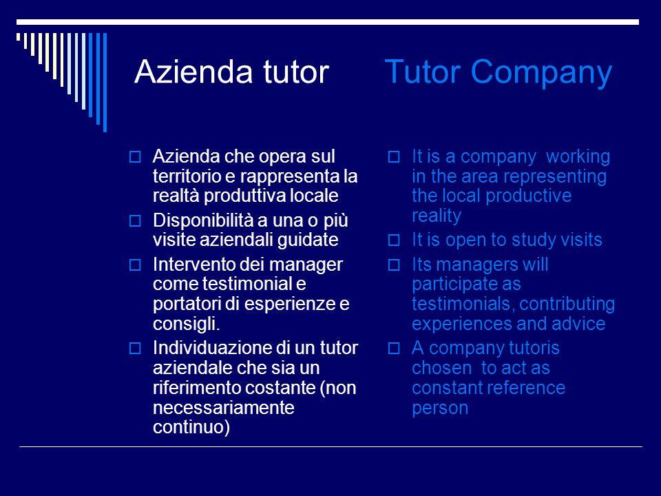 Azienda tutor Tutor Company