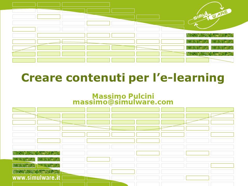 Creare contenuti per l'e-learning