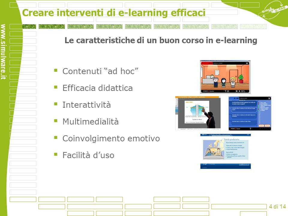 Le caratteristiche di un buon corso in e-learning