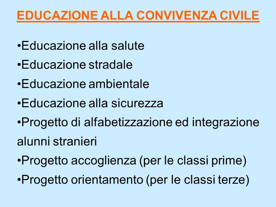 EDUCAZIONE ALLA CONVIVENZA CIVILE