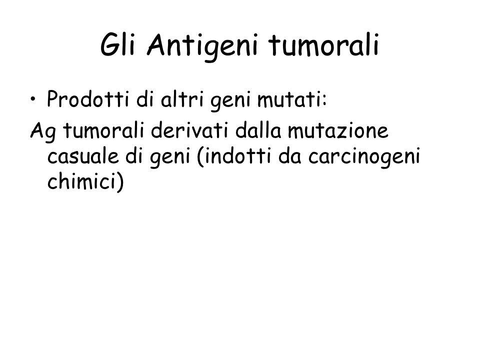 Gli Antigeni tumorali Prodotti di altri geni mutati: