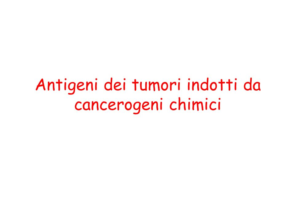 Antigeni dei tumori indotti da cancerogeni chimici