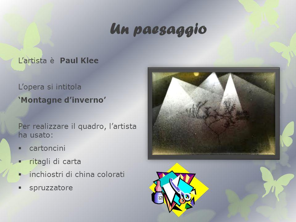 Un paesaggio L'artista è Paul Klee L'opera si intitola