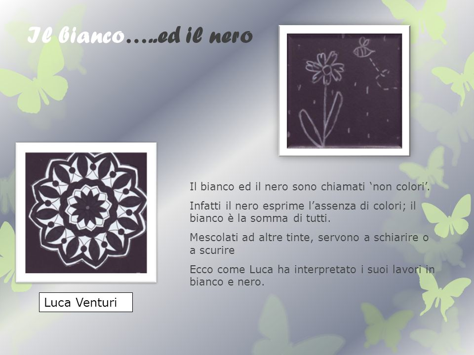 Il bianco…..ed il nero Luca Venturi