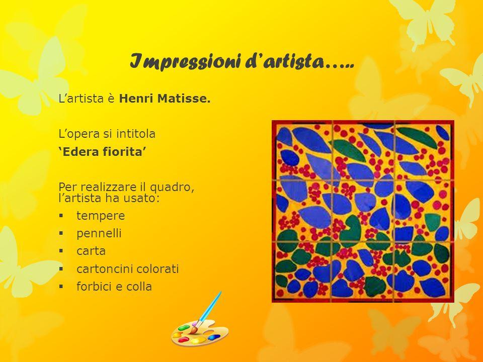 Impressioni d'artista…..