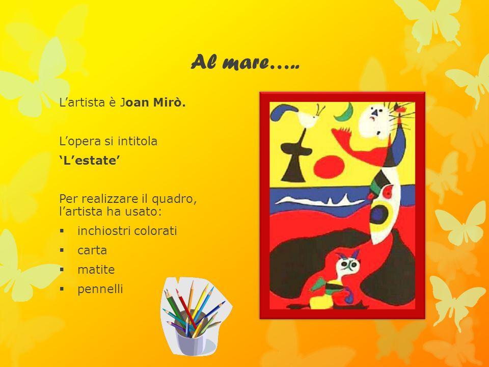 Al mare….. L'artista è Joan Mirò. L'opera si intitola 'L'estate'