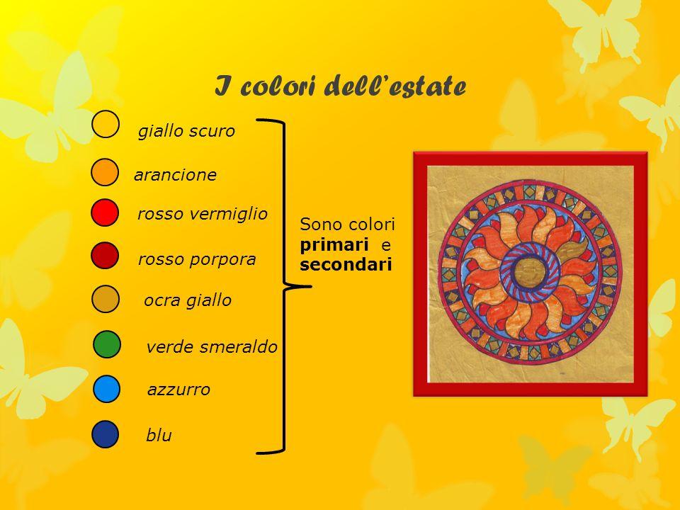 I colori dell'estate giallo scuro arancione rosso vermiglio