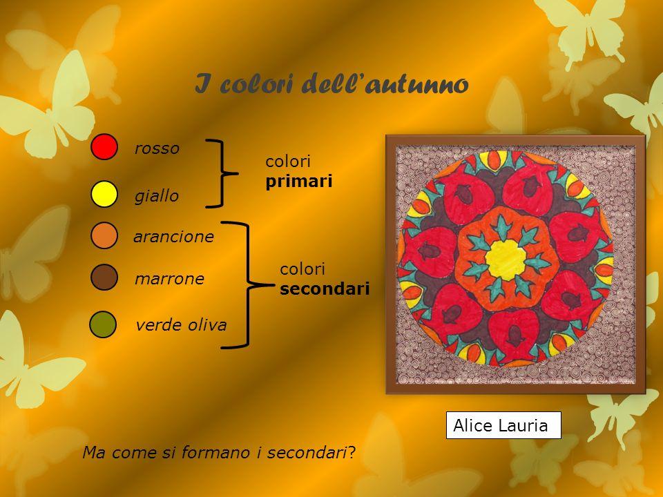 I colori dell'autunno rosso colori primari giallo arancione colori