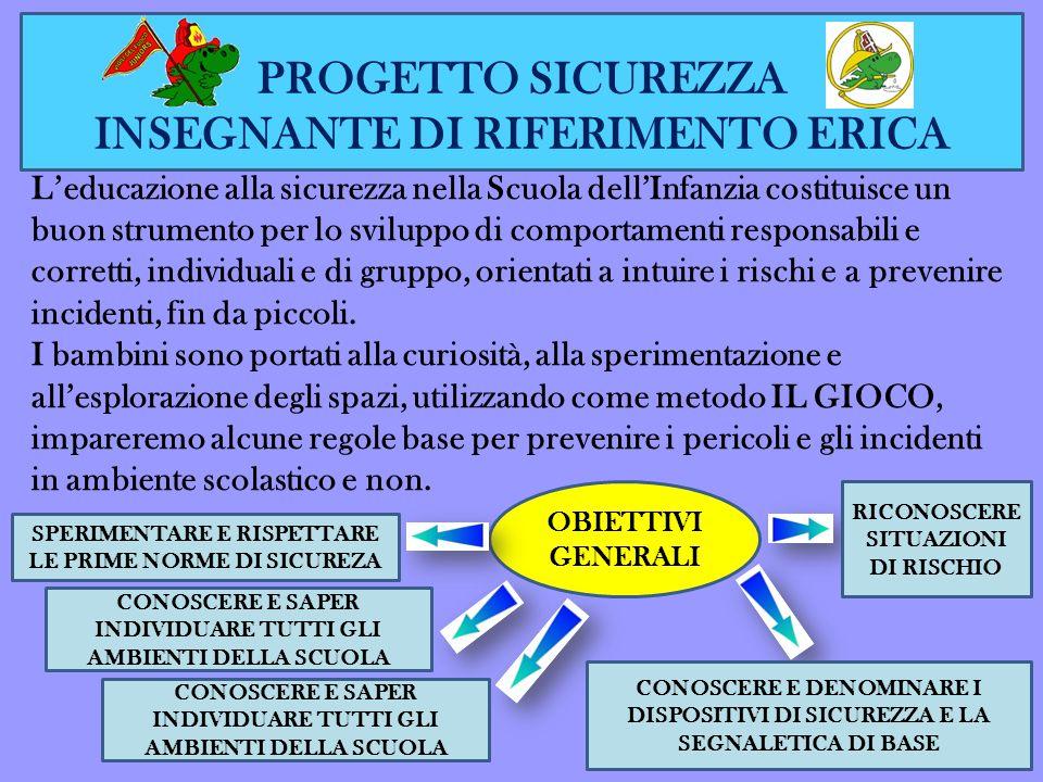PROGETTO SICUREZZA INSEGNANTE DI RIFERIMENTO ERICA